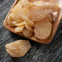 Natural Ginger <div><p>Natural ginger is from the ginger root and is perfect as a spicy snack,  for a cup of tea, or an ingredient in cooking and baking.</p><p>Dried naturally with a unique combination of sweet, spicy, moist and chewy.<br /></p></div> 8 oz Bag  $7.19
