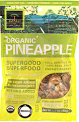 Organic Pineapple Superfood <strong></strong><p>Organic Pineapple Superfood is the perfect snack for powering through a busy work day.   Enjoy the taste of this sweet pineapple while feeling good about eating good!<br /></p><p></p> 1.8 oz Bag  $10.99