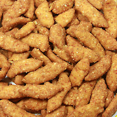Sesame Sticks Hot & Spicy <p>Hot and spicy, with zest and zing, these sesame sticks are a favorite of those who love crunchy and spicy snacks. Great to eat alone or with other sesame sticks or nuts for a tasty snack mix.  8 oz Bag  $5.99