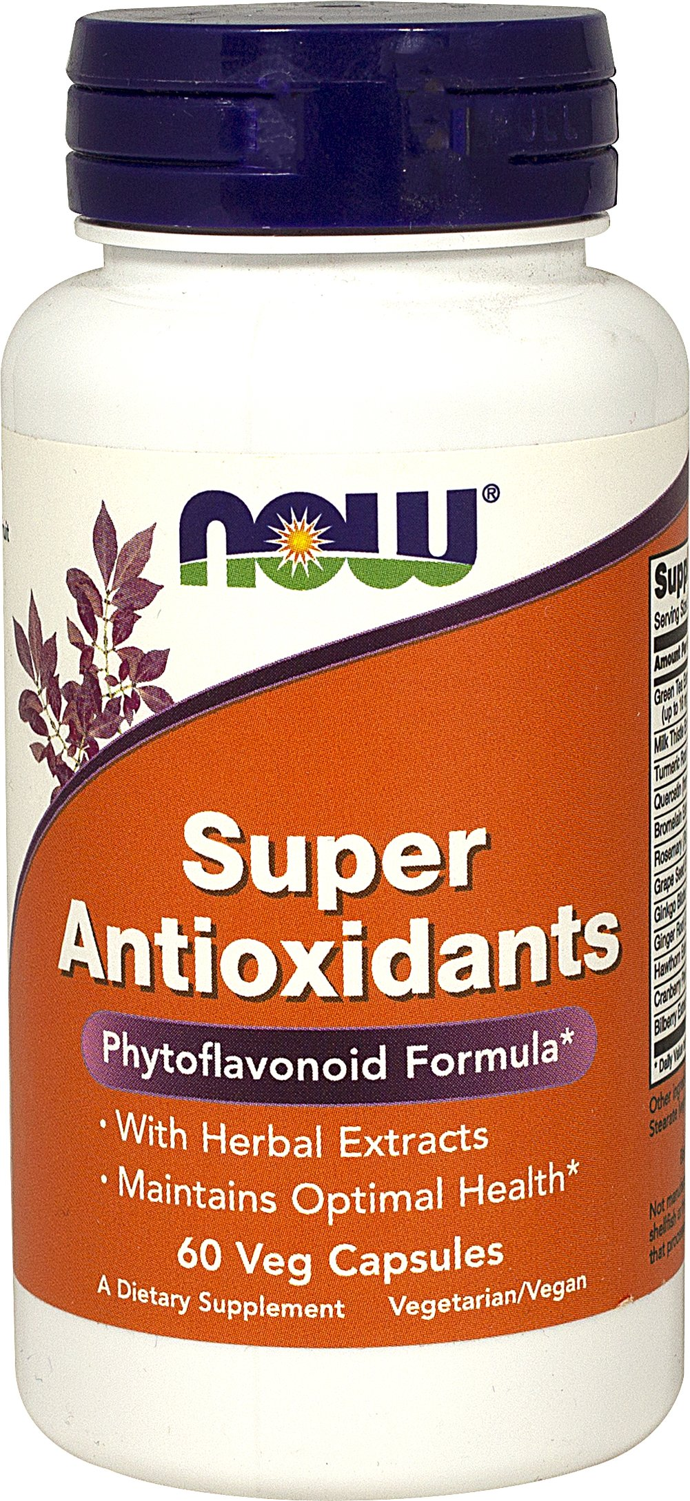Super Antioxidants Phytoflavonoid Formula <p><strong>From the Manufacturer's Label:</strong></p><p>This comprehensive blend of potent herb and fruit extracts has been designed to provide a broad spectrum of flavonoids with scientifically demonstrated antioxidant activity and effectiveness.**   These herbs and fruits have been renowned throughout the world for centuries for their ability to maintain optimal well being.**</p><p>Manufactured by Now&#174
