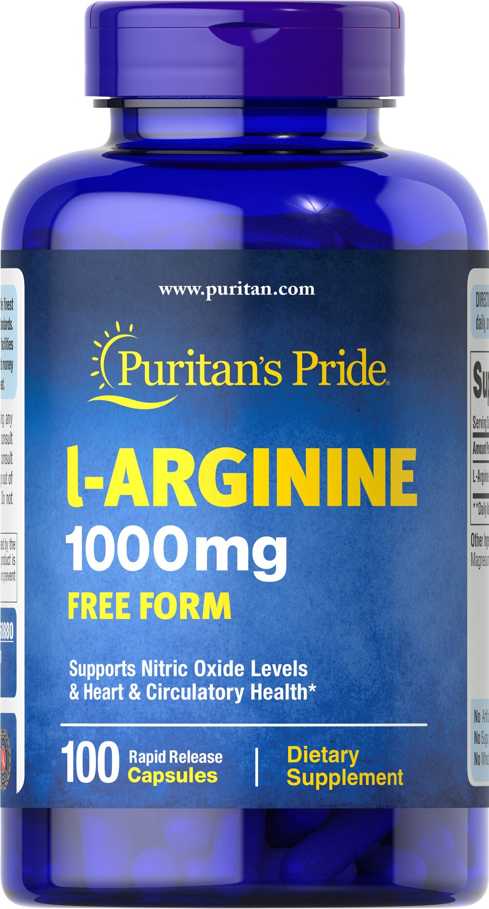 L-Arginine 1000 mg <p>Arginine is one of 20 amino acids, the building blocks of protein.** Arginine can serve as a source of energy, and is involved in various pathways throughout the body.** Arginine supports the effect of exercise and is one of the most important amino acids involved in immune function.** Adults can take one caplet daily. </p> 100 Capsules 1000 mg $19.99