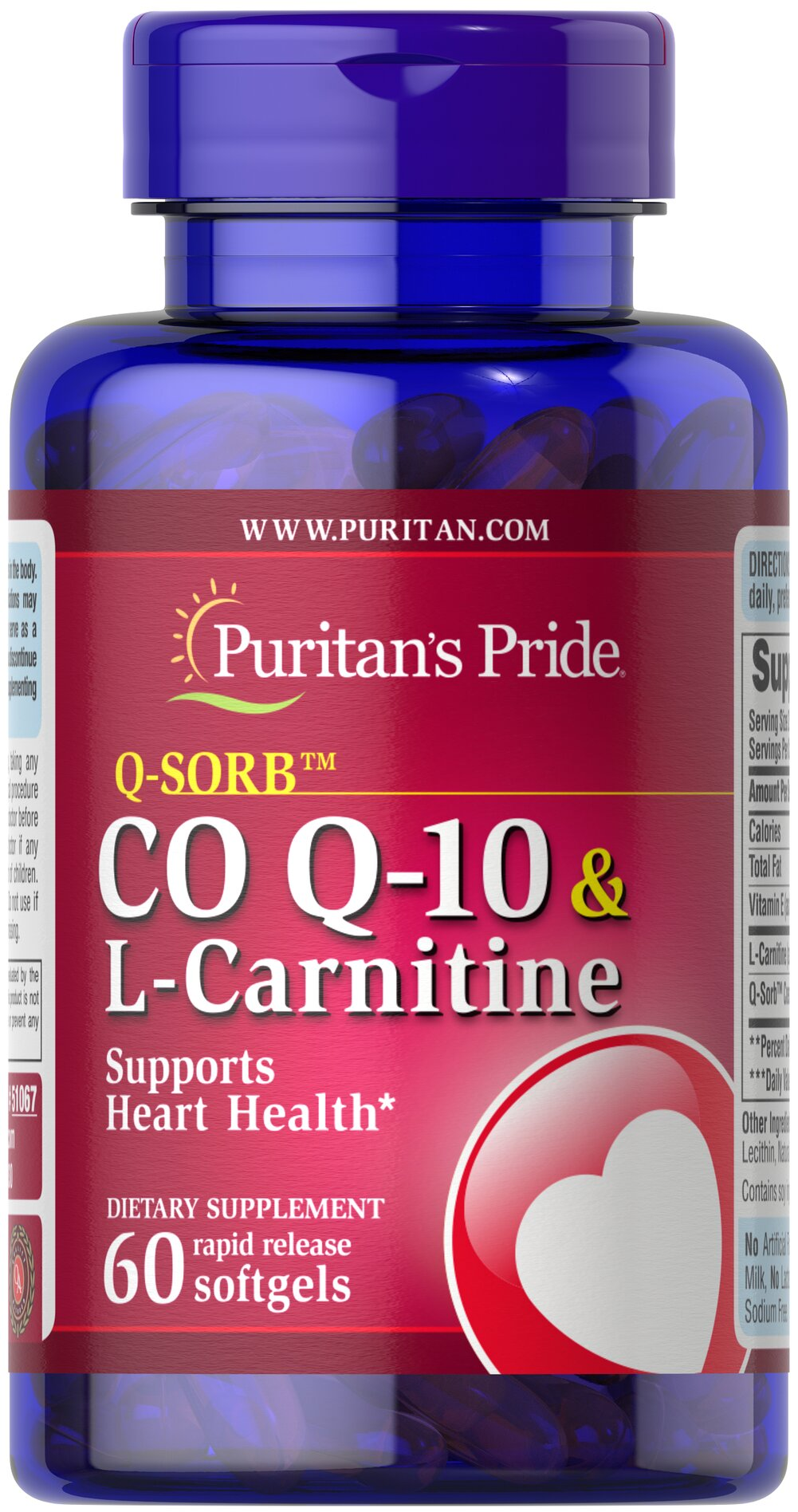 Q-SORB™ Co Q-10 30 mg plus L-Carnitine 250 mg <p>Provides powerful nutrients that support your heart**</p><p>Supports energy production**</p><p>Statin drugs can reduce Co Q-10 levels in the body, so taking Co Q-10 & L-Carnitine can replenish what Statin drugs can deplete++</p><p></p><p>++Note: Co Q-10 is not intended to serve as a replacement for Statin therapy, nor should you discontinue taking any prescribed medications while supple