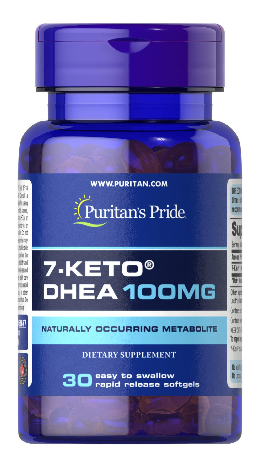 7-Keto® DHEA 100 mg <p>Naturally occurring metabolite.</p><p>100mg of DHEA in one softgel.</p><p>Rapid release.</p><p>7-Keto® is a naturally occurring metabolite of DHEA found in the body.  Levels of DHEA may decline with age, and 7-Keto® provides you with DHEA in an easy to swallow softgel. One serving of this dietary supplement provides 100mg of DHEA. Includes 30 rapid release softgels.</p> 30 Softgels 100 mg $28.99