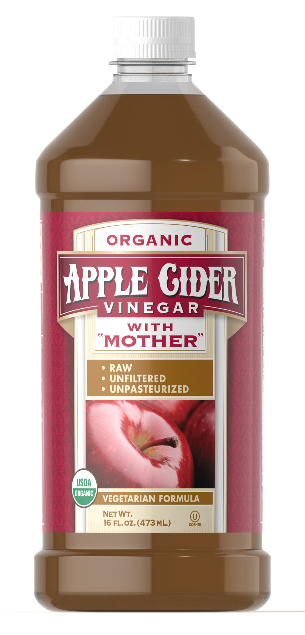 "Organic Apple Cider Vinegar with ""Mother"" <p>For over 2000 years, vinegar has been used for a variety of culinary and traditional purposes. This apple cider vinegar is unpasteurized and unfiltered, so it contains the naturally formed constituents referred to as the ""mother."" Only certified organic apples are used in our Organic Apple Cider Vinegar so you can feel good about using it.</p><p></p><p></p> 16 oz Liquid  $9.99"