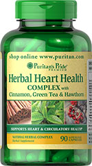 Herbal Heart Health Complex  90 Capsules  $19.99