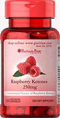 Raspberry Ketones 250 mg <p>Concentrated Source of Raspberry Ketones<br /><br />250 mg in one serving<br /><br />Rapid Release Capsules<br /><br />Our Raspberry Ketones are highly concentrated.  Each serving of this dietary supplement contains 250mg of raspberry ketones.</p><p></p> 60 Capsules 250 mg $13.99