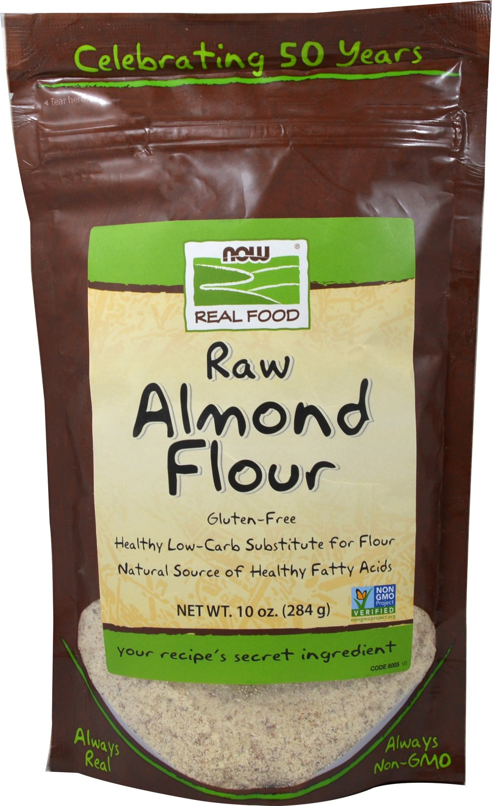 Almond Flour <p><strong>From the Manufacturer: </strong></p><p>Now Foods Almond Flour is an unblanched, gluten-free flour that is an excellent low-carb substitute for other flours used in baking, either wholly or in part. With Almond Flour, you can add color, texture, richness, and flavor to your baked goods as well as everyday meals.</p> 10 oz Bag  $10.99
