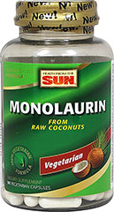 Monolaurin 100% Vegetarian <p><strong>From the Manufacturer:</strong></p><p>Provides nutritional support for healthy immune function and healthy digestive system function**</p><p>Manufactured by Health from the Sun®</p> 90 Capsules 1100 mg