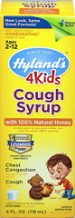 Hyland's 4Kids Cough Syrup with Honey  4 oz Bottle  $7.99