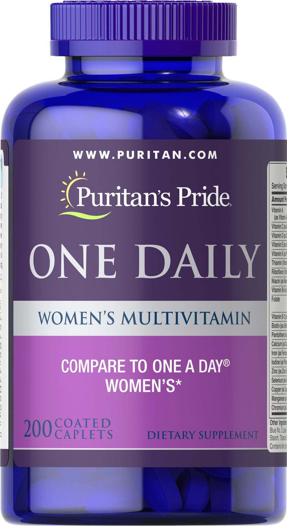Women's One Daily Multivitamins <p><b>A Convenient Vitamin for the Woman on the Go!</b></p>  <p>Once-daily formula provides a valuable array of vitamins and minerals**</p> <p>Includes 1000 IU of Vitamin D to promote bone and immune system health**</p> <p>Provides 100% of the Daily Value of 5 different B-Vitamins to aid with energy metabolism and nervous system health**</p> 200 Caplets  $24.99