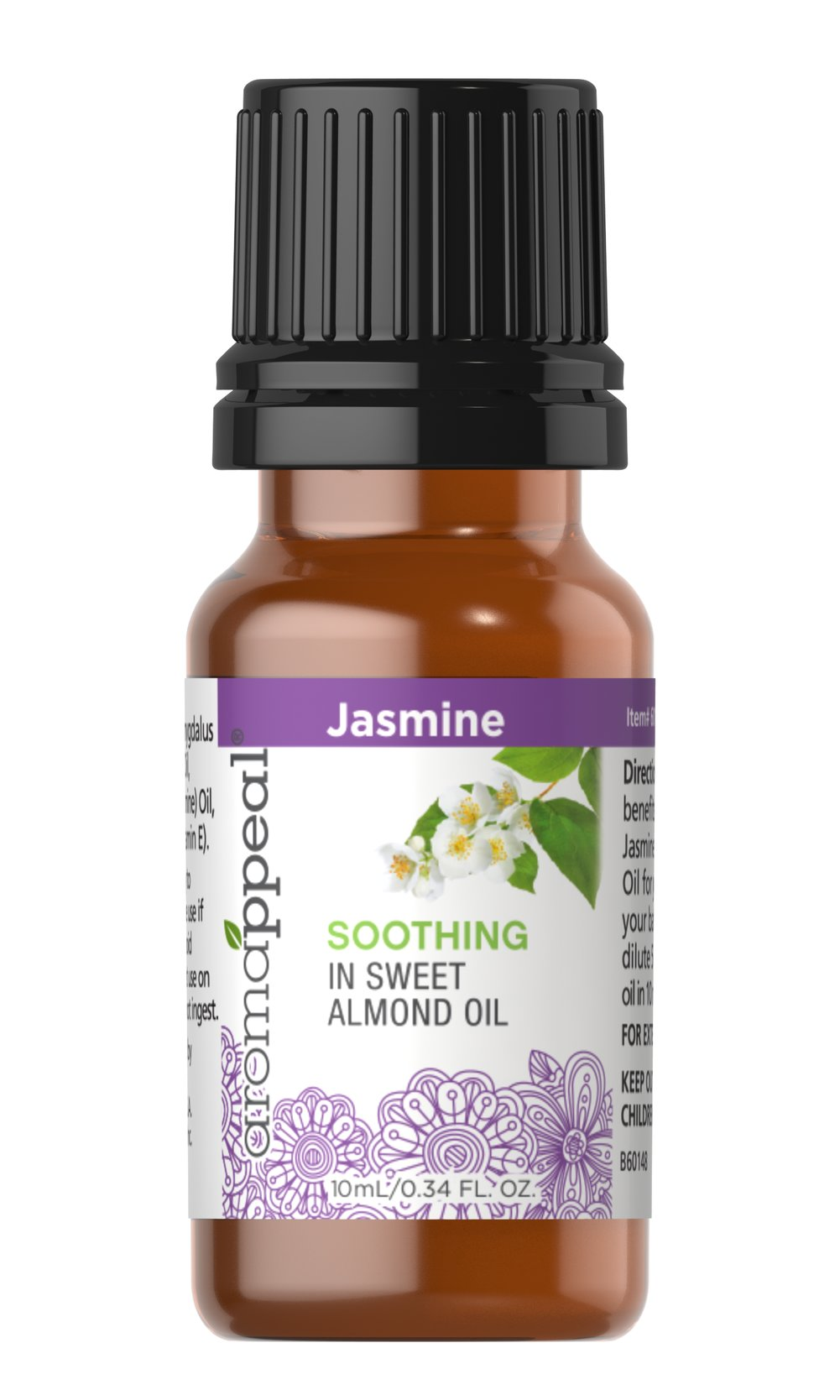 "Jasmine Essential Oil Blend <p>Soothe your spirit and prime yourself for a peacefully serene aromatherapy encounter with Jasmine. As one of the most popular scents in all of aromatherapy, Jasmine Oil is beloved for its deeply rich floral aroma, with a tea-like undertone.</p><ul><li><span class=""bold-pink"">Traditional Uses:</span> Soothing, tranquility and serenity, meditation.</li><li><span class=""bold-pink"">History:</s"