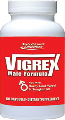 Vigrex™ <p><b>From the Manufacturer's Label: </p></b><p>We are proud to bring you Vigrex from Nutritional Concepts. Look to Puritan's Pride for high-quality products and great nutrition at the best possible prices.</p> 60 Tablets  $9.99