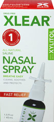 Xlear Sinus Nasal Spray with Xylitol  1.5 fl oz Liquid  $11.99