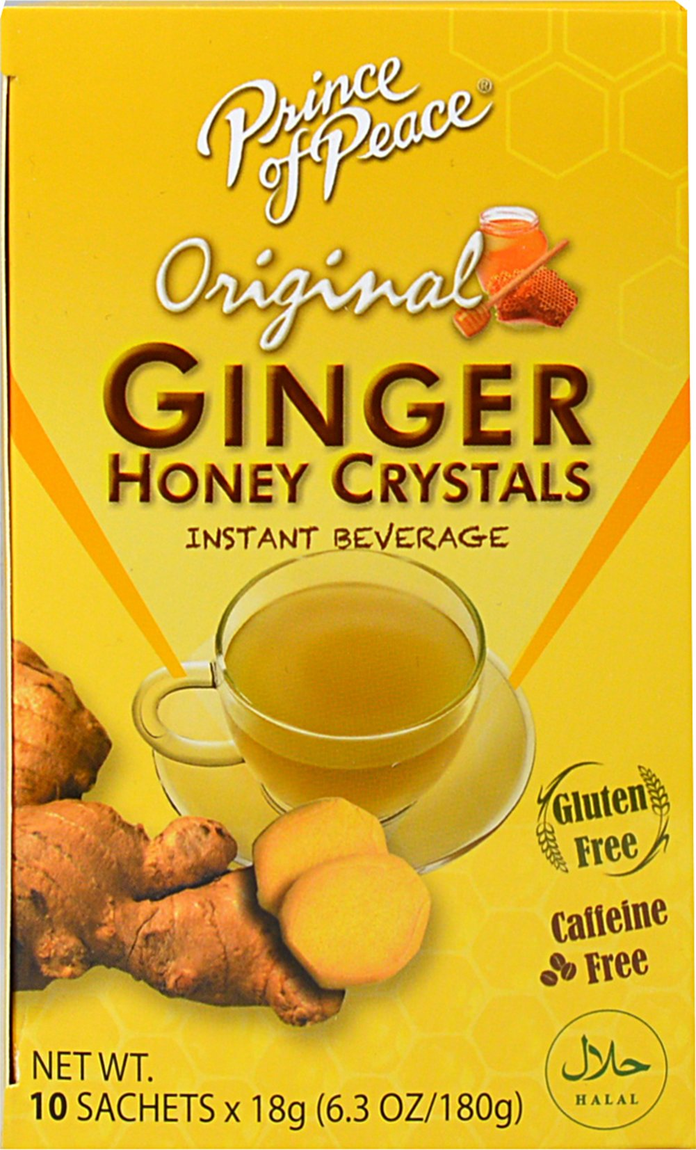 Ginger Honey Crystals <p><strong>From the Manufacturer's Label: </strong></p><p>Prince of Peace brings you all the natural benefits of Ginger and Honey in their special blend of Instant Ginger Honey Crystals. Instant soluble, convenient, and has no artificial additives. You'll love this sweet and spicy flavor!<br /></p> 10 Crystals  $7.99