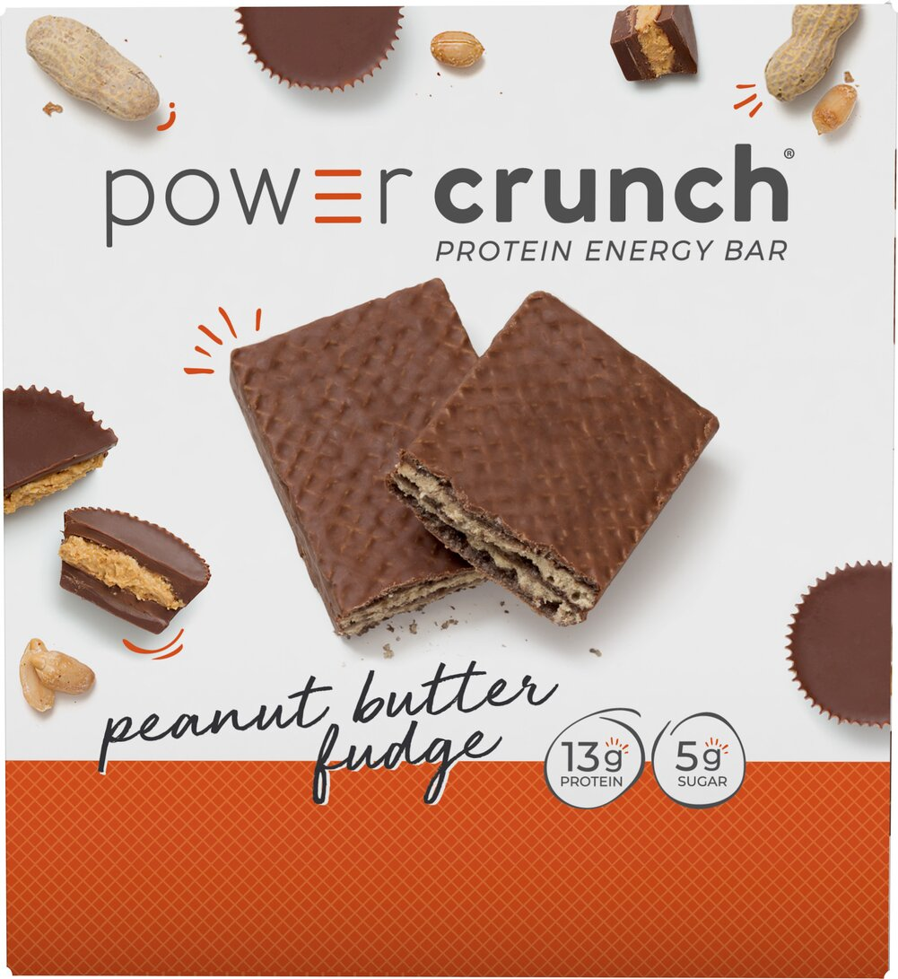 "Power Crunch® Bar Peanut Butter Fudge <p>High Protein Energy Snack</p><p>Made with Proto Whey® Protein & Glutamine</p><p>""Nutrition Engineered for the Human Race""®</p><p>Power Crunch® cream filled wafer cookies are available in delicious Peanut Butter Fudge.</p> 12 Bars  $16.99"