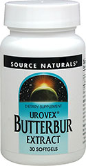 Urovex® Butterbur Extract 50 mg  30 Softgels 50 mg $15.49