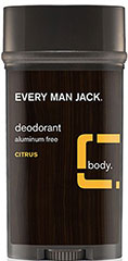Every Man Jack® Citrus Deodorant Aluminum Free <p><strong>From the Manufacturer's Label:</strong></p><p><strong>Citrus</strong></p><p><strong>Aluminum Free</strong></p><p>WILL THIS MAKE ME A WINNER? Just by a nose. Our naturally derived deodorant provides long lasting odor protection and helps absorb sweat and moisture. All without the use of aluminum or other harsh chemicals, leaving you feeling and smelling fres