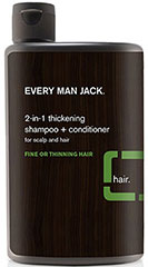 2-In-1 Thickening Shampoo + Conditioner <p><strong>From the Manufacturer's Label:</strong></p><p><strong>For Fine Hair</strong></p><p><strong>2-in-1 Thickening Shampoo</strong></p><p>WILL THIS GIVE ME MORE SUBSTANCE? Personality wise, that's up to you. If you're talking hair, our thickening shampoo + weightless conditioner will gently cleanse and moisturize your hair. Soy proteins fortify hair from root to end. Leaves
