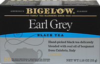 "Earl Grey Black Tea <p><strong><strong>From the Manufacturer's Label:</strong></strong></p><p>Hand picked black tea delicately blended with real oil of bergamot and Calabria, Italy. Carefully blended with flavorful and aromatic bergamot, a recipe like no other.<strong><strong></strong></strong></p><p><span class=""t-marker""></span><strong><strong></strong></strong></p"