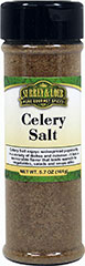 Celery Salt <p>Use this blend of sea salt and ground celery seed in place of salt in most any dish.</p> 5.7 oz Salt  $4.99