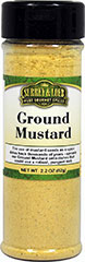 Mustard Ground <p>Our in house Surrey & Loeb ground mustard yellow mustard seed has a fresh clean aroma and a pungent biting flavor. Mustard adds zest to a wide variety of dishes.</p> 2.18 oz Powder  $4.99