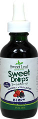 Stevia Liquid Extract Berry <p><strong>From the Manufacturer's Label:</strong></p><p>Sweet Leaf Stevia Liquid Berry a convenient sweetener that contains no calories or carbohydrates, and may be used in tea, coffee, smoothies, protein shakes, or any recipe. Delicious and has no aftertaste. From drinks to desserts, appetizers to entrees and so much more, the options are endless.<br /></p> 2 oz Liquid  $9.49