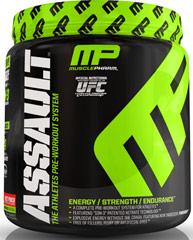 Assault™ PW Fruit Punch <p><b>From the Manufacturer's Label:</b></p> <p>Assault™ PW  is manufactured by Muscle Pharm.</p><p>Available in Green Apple, Razz Lemon and Fruit Punch flavors.</p> 0.96 lbs Powder  $32.99