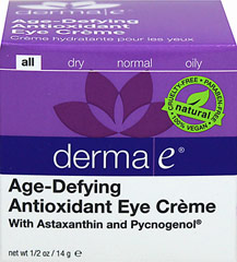 Derma E® Age-Defying Eye Cream with Astaxanthin & Pycnogenol  0.5 oz Cream  $16.49