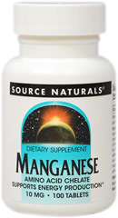 Manganese 10 mg Chelate  100 Tablets 10 mg $3.49