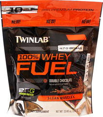 100% Whey Protein Fuel Double Chocolate <p><strong>From the Manufacturer's Label:</strong></p><p>100% Whey Protein Fuel is manufactured by Twinlab. Available in Vanilla Slam, Double Chocolate & Cookies & Cream flavors.</p> 13.4 oz Powder  $10.99