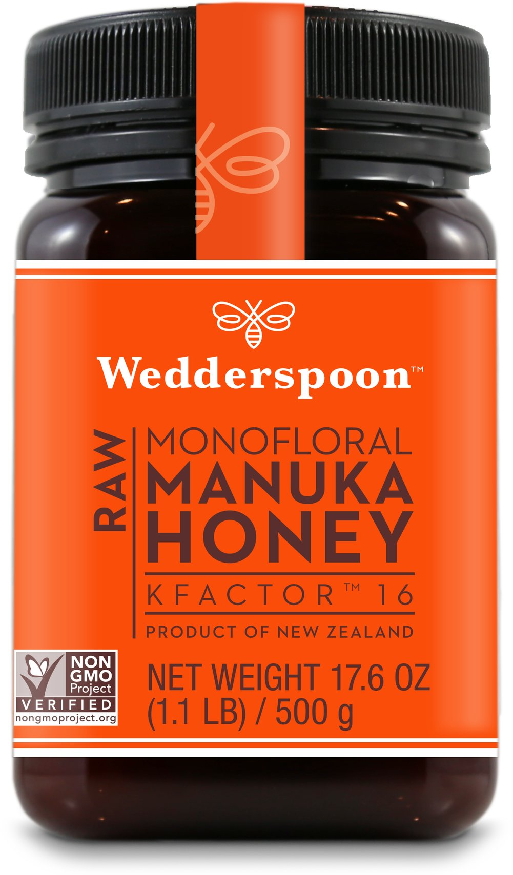 100% Raw Premium Manuka Honey Active 16+ <p><strong>From the Manufacturer's Label:</strong></p><p><strong></strong>Wedderspoon's Raw Manuka Honey is sourced from the remote pristine areas of New Zealand's South Island. This honey is the finest in natural products. Smooth, creamy, and unpasteurized.<br /></p> 17.6 oz Jar  $39.99