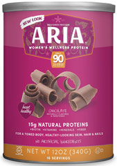 Aria Women's Protein Chocolate <p><strong>From the Manufacturer's Label:</strong></p><ul><li>14 grams of Protein - a balanced blend of Soy & Whey</li><li>No Artificial Colors, Flavors, or Sweetners</li><li>NO MSG</li><li>Non-GMO Soy</li><li>99% Lactose Free (30mg)</li><li>Excellent Source of Calcium, Folic Acid and Vitamin D</li></ul><p><strong></strong>&l