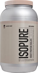 Isopure Whey Protein Isolate Unflavored <p><strong>From the Manufacturer's Label:</strong></p><p>Isopure Whey Protein Isolate Unflavored is manufactured by Nature's Best.</p> 3 lbs Powder  $44.99