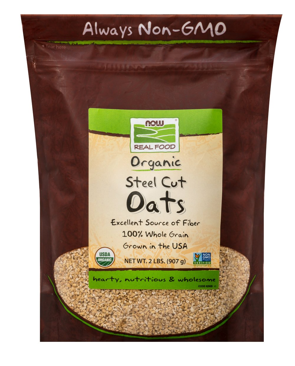 Oats Steel Cuts <p>Freshly milled from high protein oats and cut into neat little pieces on a steel buhr mill, Steel Cut Oats are one of the healthiest foods you can eat and they make a delightful, full-bodied hot cereal.</P> 2 lb Bag  $8.99