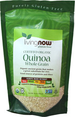 Organic Quinoa Grain <p><strong>From the Manufacturer:</strong></p><p>Organic ancient grain that make a great substituted for rice. It has a mild, delicate flavor that's slightly nutty, making it a popular addition to many vegetarian recipes. Sprinkle some on your favorite salad for an extra burst of flavor and nutrition!<br /></p><p>Always Made Without:</p><ul><li>Dairy</li><li>Wheat</li><li>Soy</li