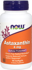 Astaxanthin 4 mg Vegetarian <p><b>From the Manufacturer's Label:</b></p> <p> Carotenoid Antioxidant</p> <p>Vegetarian Formula</p> <p>Astaxanthin is a naturally occurring carotenoid that, because of its unique structure, provides antioxidant benefits.  Zanthin® Astaxanthin supports overall ocular health.** </p> <p>Manufactured by NOW® Foods. </p> 60 Softgels 4 mg $12.49