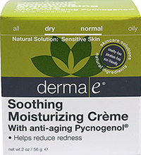 Derma E® Soothing Moisturizing Crème with Anti-Aging Pycnogenol® <p><strong>From the Manufacturer's Label:</strong></p><p>Derma E® Soothing Moisturizing Crème with Anti-Aging Pycnogenol® is cruelty-free, paraben-free and eco-friendly.</p> 2 oz Cream  $23.96