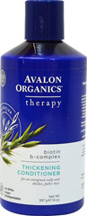 Avalon Biotin B-Complex Conditioner <p><b>From the Manufacturer's Label</b></p> <p><b>Fortified with Biotin, Saw Palmetto and Wheat Protein for a healthy scalp and thicker, fuller hair. </b></p> <p>- Maintain Healthy Scalp</p> <p>- Nourish Follicles</p>  <p>- Strengthen Hair Strands</p> <p>- Boost Body and Volume</p>  <p>- Perfect for Daily Use.</p>  <p>Manufactured by Avalon Org