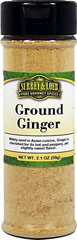 Ground Ginger <p>Ginger is known for its knobby root and a hot, peppery, and slightly sweet flavor. Ground ginger is used in gingerbread, cookies, pies, as well as in Indian curries, and Asian foods. It is also used on meats and fish.</p> 2.1 oz Bottle  $5.94