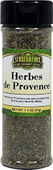 Herbes De Provence <p><strong></strong>This blend uses spices like thyme, basil, savory, and other delicious spices. Used in soups, stews, salads, grilled vegetables and sauces, or in fish or meat dishes. Also makes a wonderful dip for breads when added to extra virgin olive oil.<br /></p> 1.1 oz Bottle  $6.99