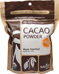 Organic Raw Cacao Powder <p><strong>From The Manufacturers Label:</strong></p><p><strong></strong></p><p>The bean of the cacao plant is the nutritional and flavorful source for all chocolate and cocoa products. Use this for desserts, baking, sauces, spreads, smoothies and beverages.</p> 8 oz Powder