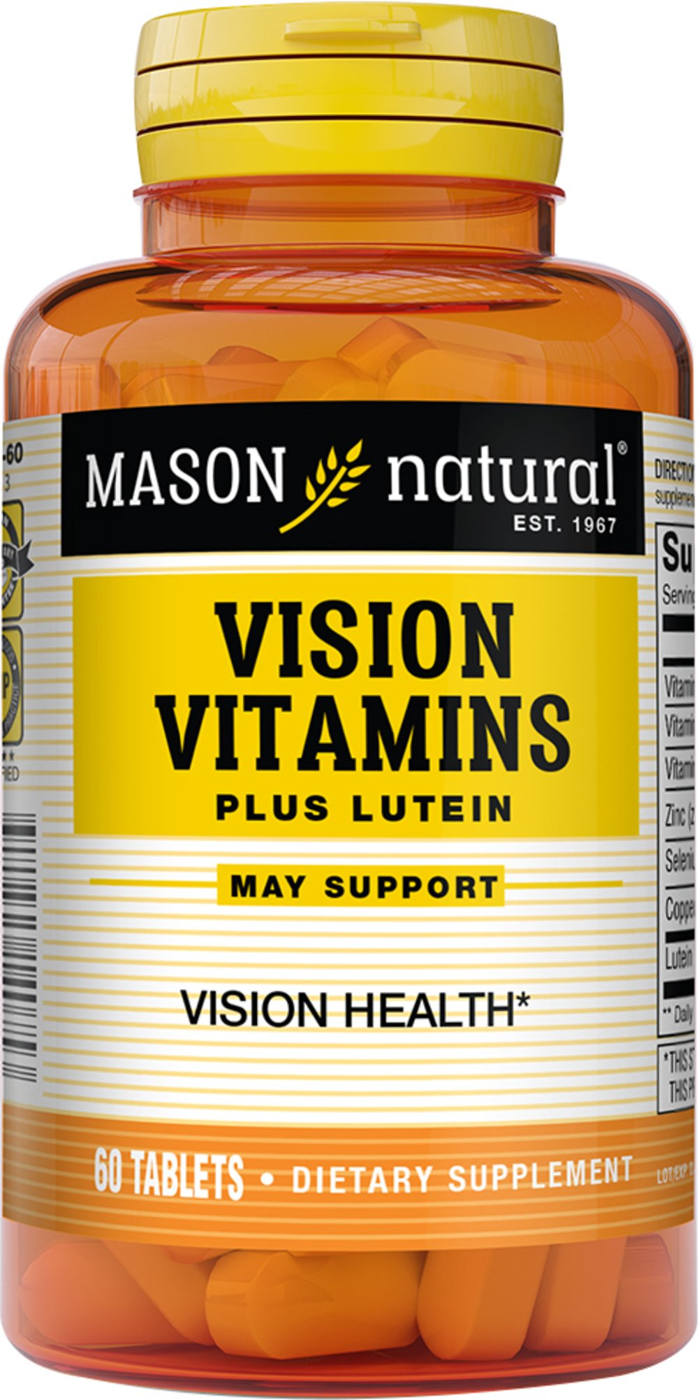Vision Vitamins Plus Lutein  60 Tablets  $6.99