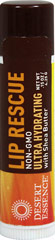 Lip Rescue Ultra Hydrating With Shea Butter <p><strong>From the Manufacturer's Label:</strong></p><p>Lip Rescue Ultra Hydrating With Shea Butter is manufactured by Desert Essence®.</p> 0.15 oz Each  $1.59