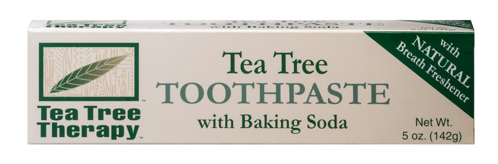 Tea Tree Toothpaste with Baking Soda <p><strong>From the Manufacturer's Label:</strong></p><p>The all natural dual cleaning system in Tea Tree Therapy Toothpaste provides both Calcium Carbonate and Sodium Bicarbonate.  Therapeutic grade Tea Tree Oil with its natural properties controls the bacteria which causes plaque and tartar.  Parsley Seed Oil will naturally freshen your breath.</p><p>Manufactured by Tea TreeTherapy Inc..</p> 5 oz Tube  $3.