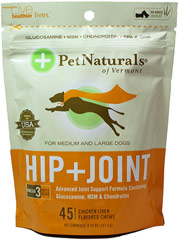 Hip And Joint Soft Chews for Dogs <p><strong>From the Manufacturer's Label: </strong></p><p>No added Wheat<br /></p><p>Chicken Liver Flavored Soft Chews</p><p>Omega 3 Fatty Acids</p><p>Advanced Formula Containing Glucosamine, MSM, Chondroitin, EPA & DHA<br /></p><p>Fido losing his flex? Give those squirrels another run for their money. Our Hip + Joint Formula has high quality ingredients that ar