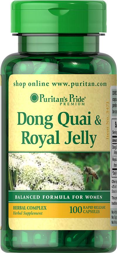 Puritan's Pride Dong Quai & Royal Jelly-100 Capsules 003471