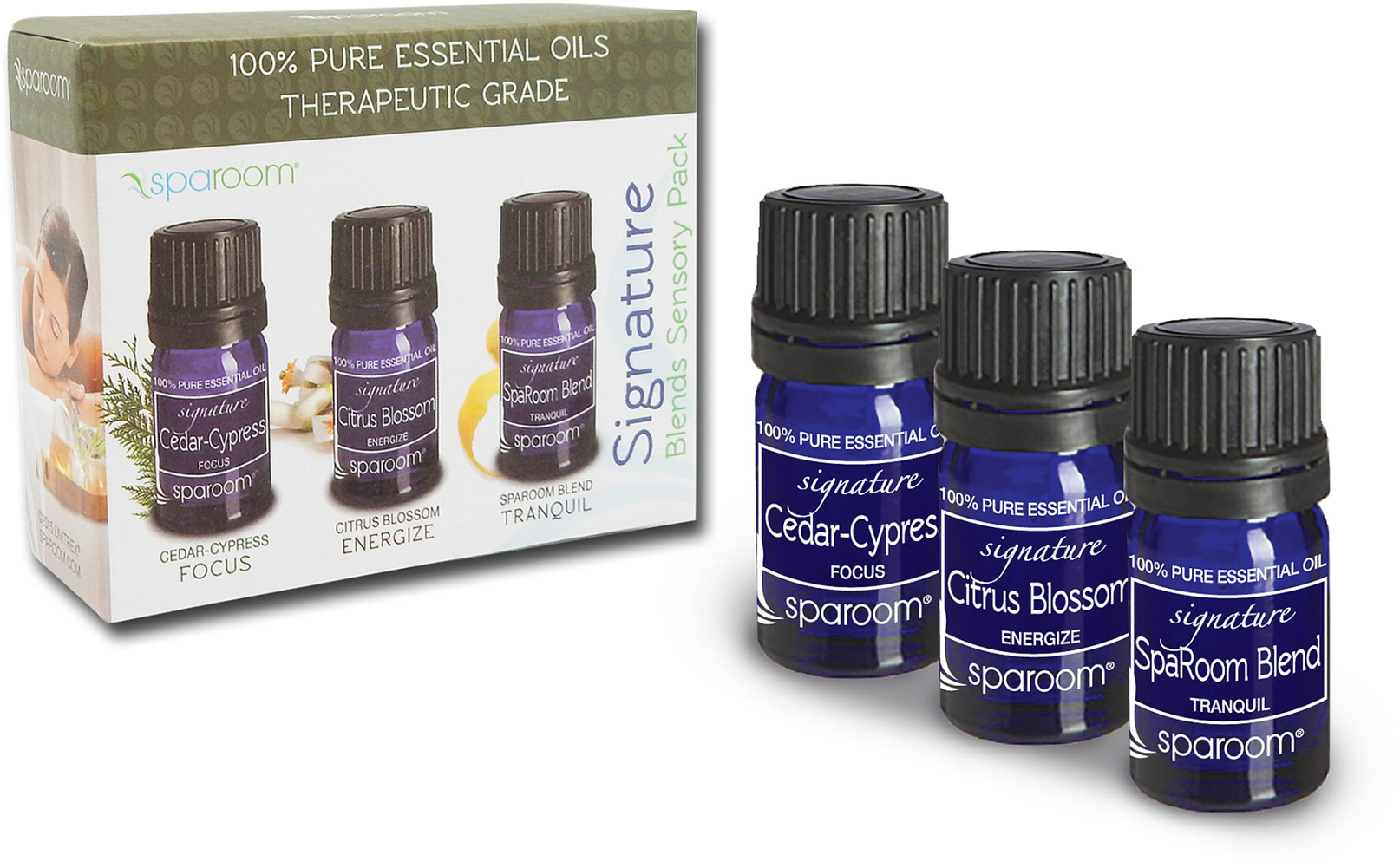Spa Room Essential Oil Signature Blends Sensory Pack-3 Oils Each 004038