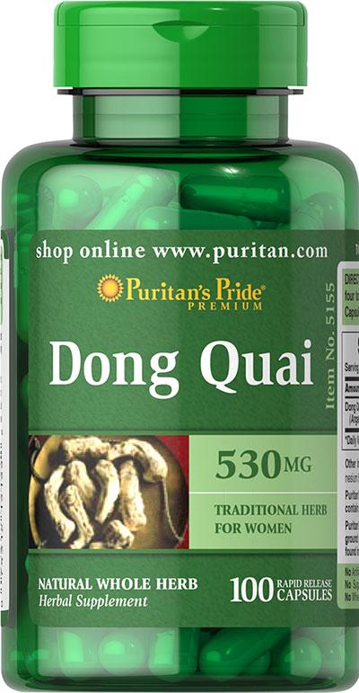 Puritan's Pride Dong Quai 530 mg-100 Capsules 005155