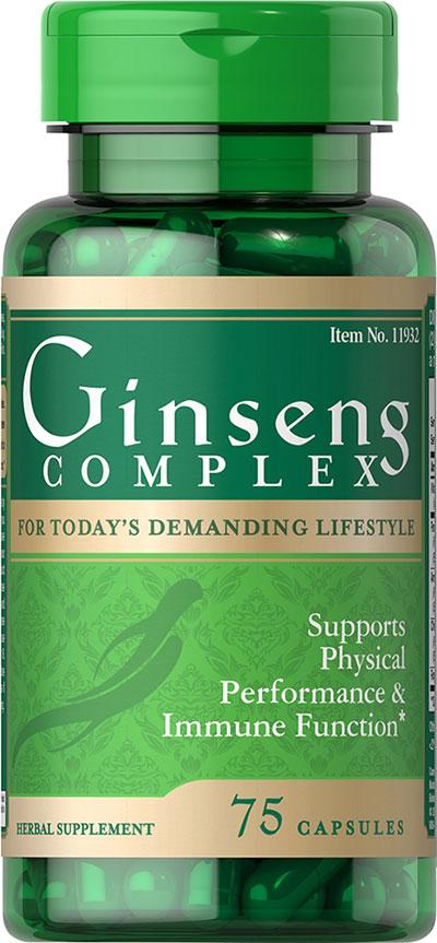 Puritan's Pride Ginseng Complex-75 Capsules 011932