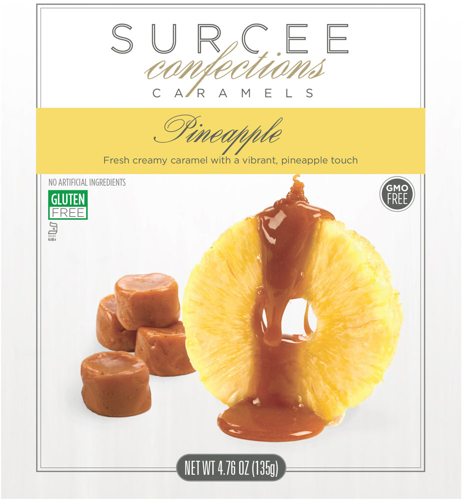 Surcee Confections Pineapple Caramels - 8 Bags-12 Each 016827